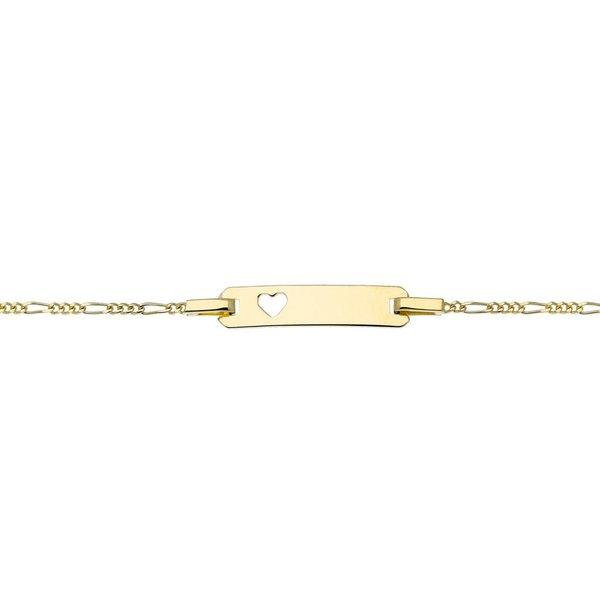 Gouden kinderplaatarmband - 12-14 cm - figaro