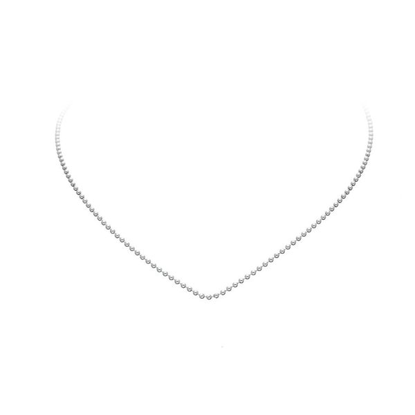 Zilveren lengtecollier - bolletjes - 1.5 mm