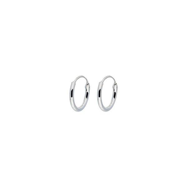 Zilveren draadcreolen - 1 mm