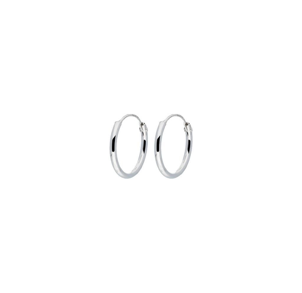 Best basics Zilveren draadcreolen - 1 mm - Ronde buis