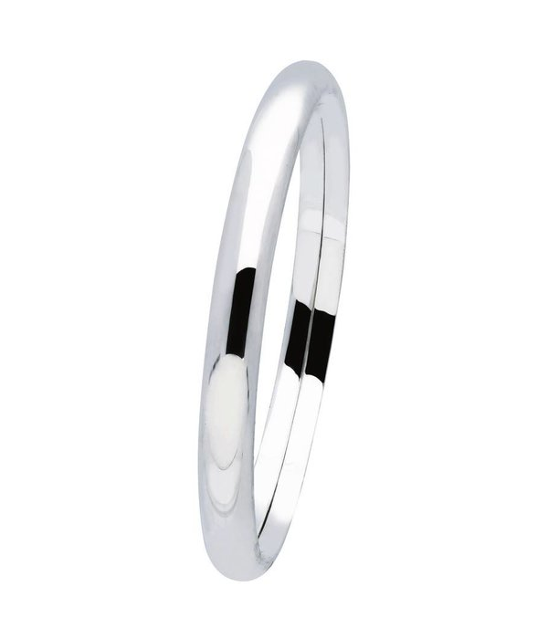 Best basics Zilveren holle slavenband dop - ovaal 7 mm - 60 mm -