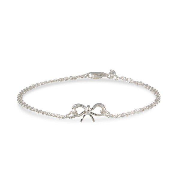 Zilveren symboolarmband - ankerschakel met strik
