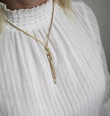 Best basics Zilveren gold-plated y-collier - calza - mesh -