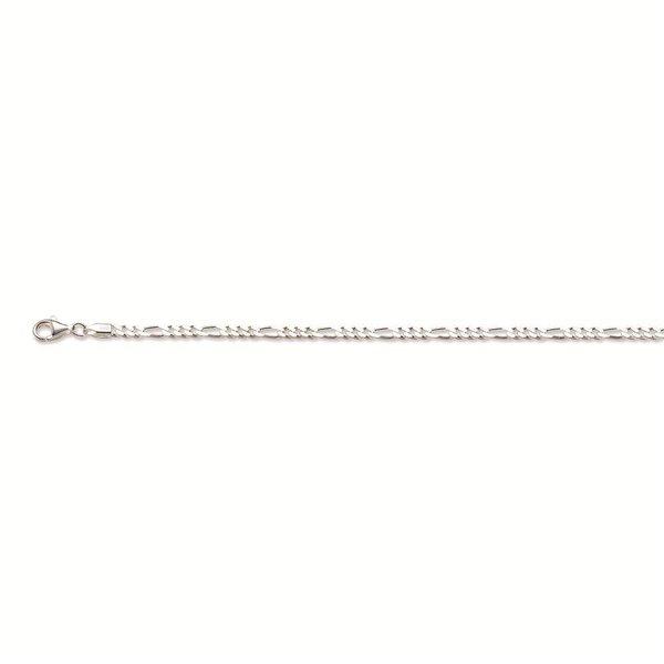 Zilveren schakelcollier - figaro - 3.0 mm