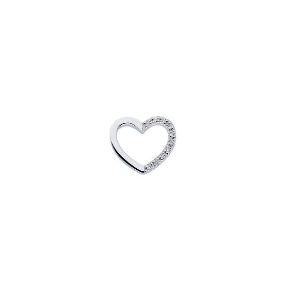 Zilveren hanger - hart - zirkonia - pavé