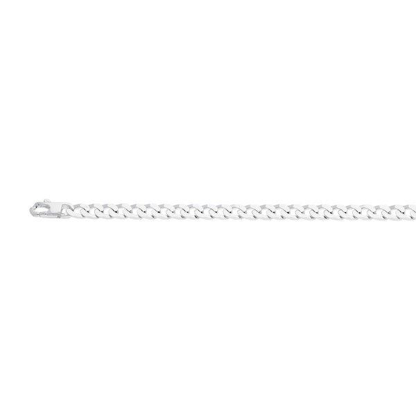 Zilveren schakelcollier gourmet 5.5 mm