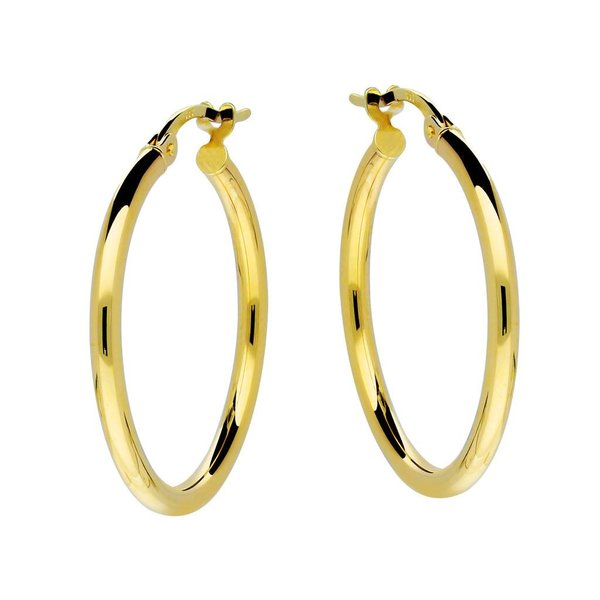 Gouden creolen gold collection - 2x24 mm