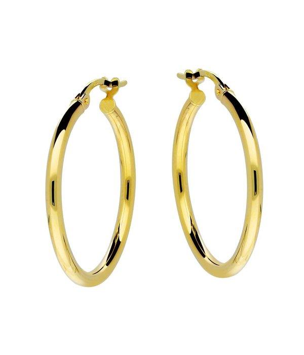 Glow Gouden creolen gold collection - 2x24 mm -