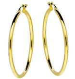 Glow Gouden creolen gold collection - 2x34 mm -