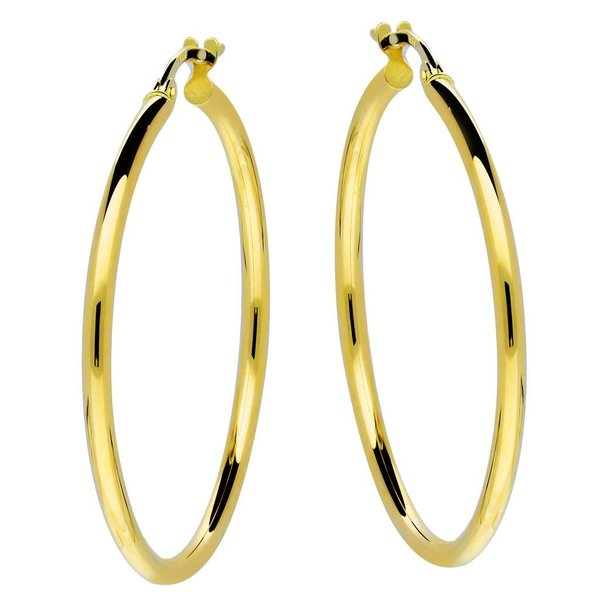 Gouden creolen gold collection - 2x34 mm