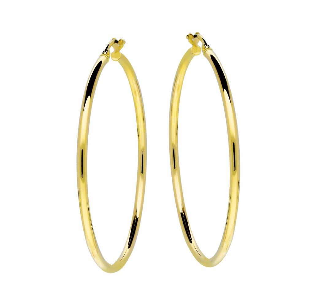 Glow Gouden creolen gold collection - 2x44 mm -