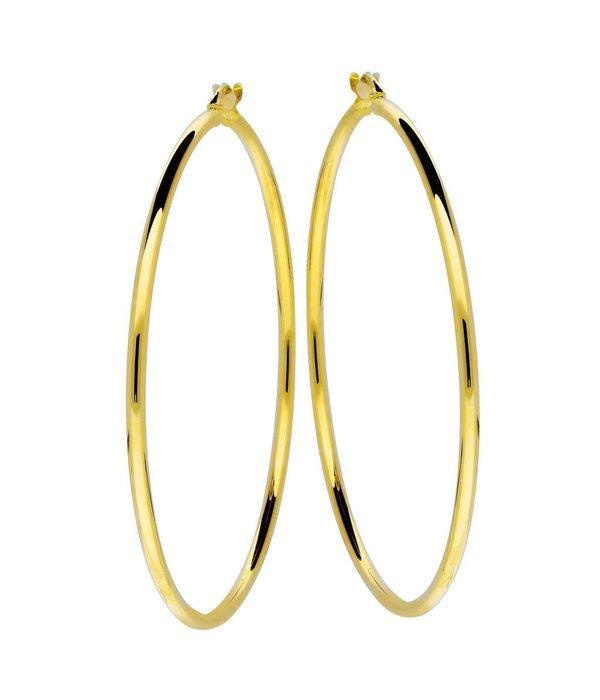 Glow Gouden creolen gold collection - 2x54 mm -
