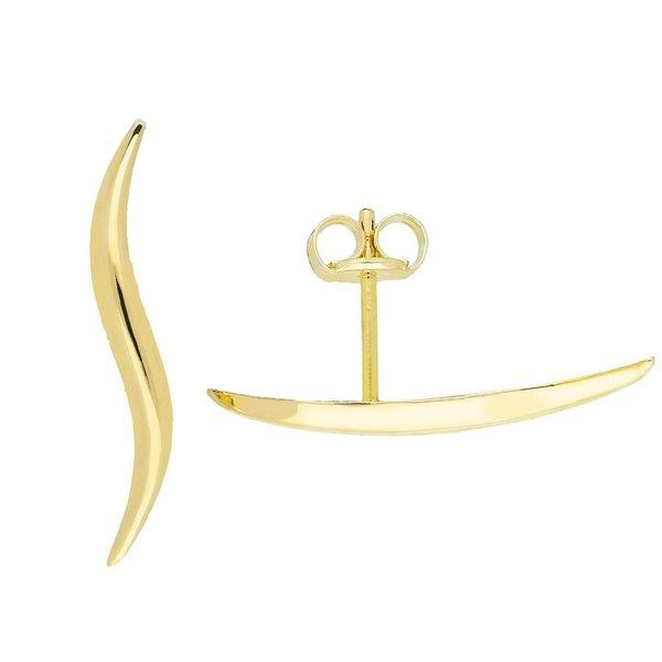 Gouden earcuffs - glanzend - oorklimmer