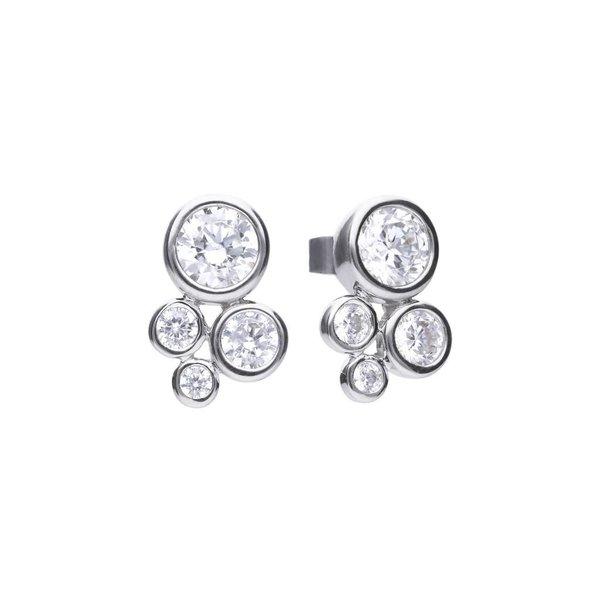 Zilveren oorknoppen diamonfire