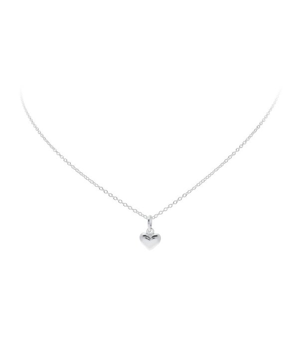 Best basics Zilveren collier met hanger - hart - 8 x 8mm - Jasseron - 39-41 cm