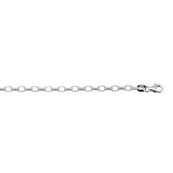 Zilveren schakelarmband - 3.5 mm- ovale jasseron