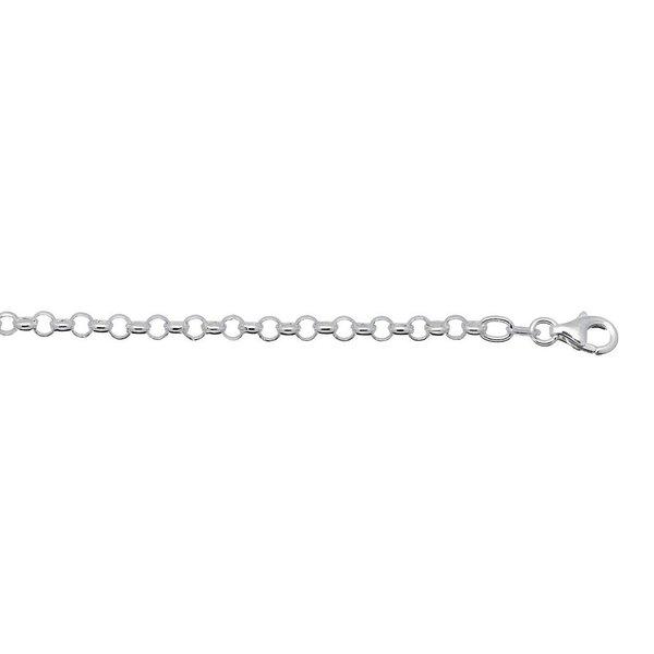 Zilveren schakelarmband - jasseron 4 mm
