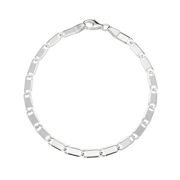 Zilveren schakelarmband - plaatjes