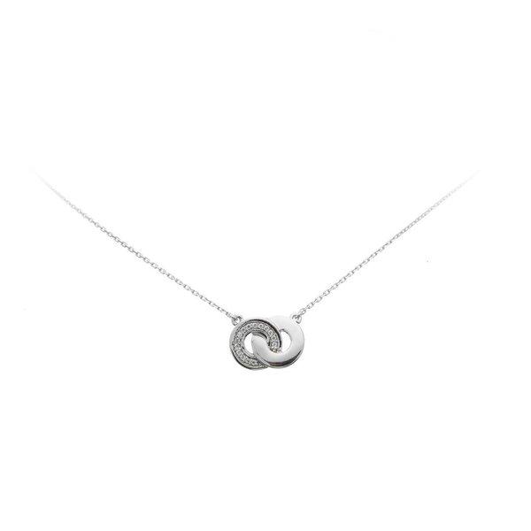 Zilveren collier trend