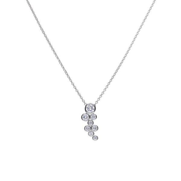 Zilveren collier diamonfire