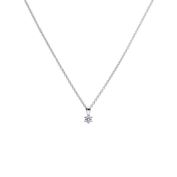 Zilveren collier diamonfire - 0.25 ct - 4 mm