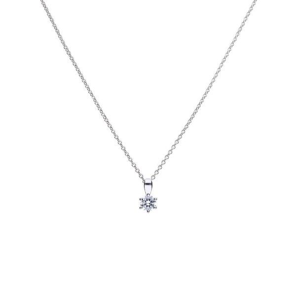 Zilveren collier diamonfire - 0.50 ct - 5 mm
