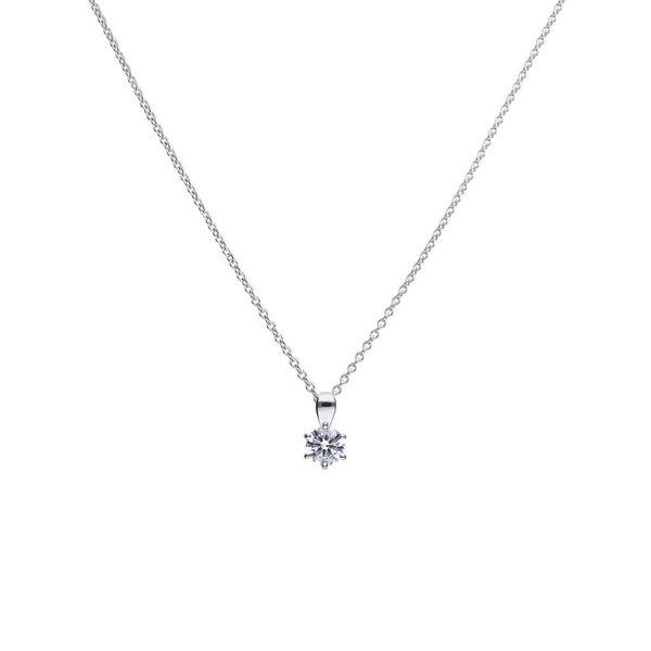 Zilveren collier diamonfire - 0.75 ct - 5.65 mm