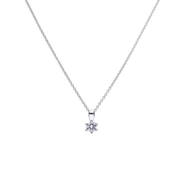 Zilveren collier diamonfire - 1.50 ct - 7 mm