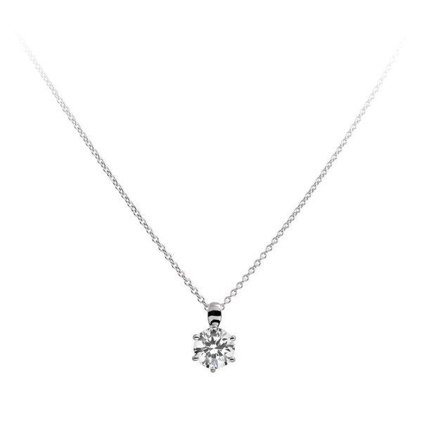 Zilveren collier diamonfire - 2.00 ct - 8 mm