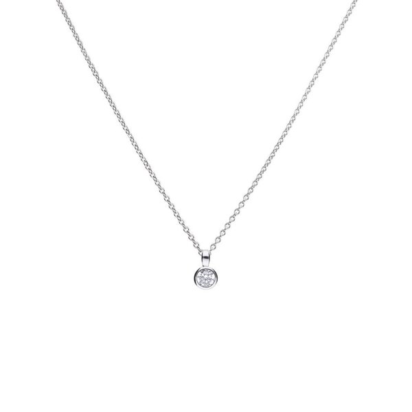 Zilveren collier diamonfire - 0.25 ct - 4 mm