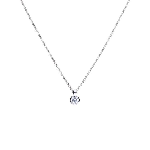Zilveren collier diamonfire - 0.50 ct - 5 mm