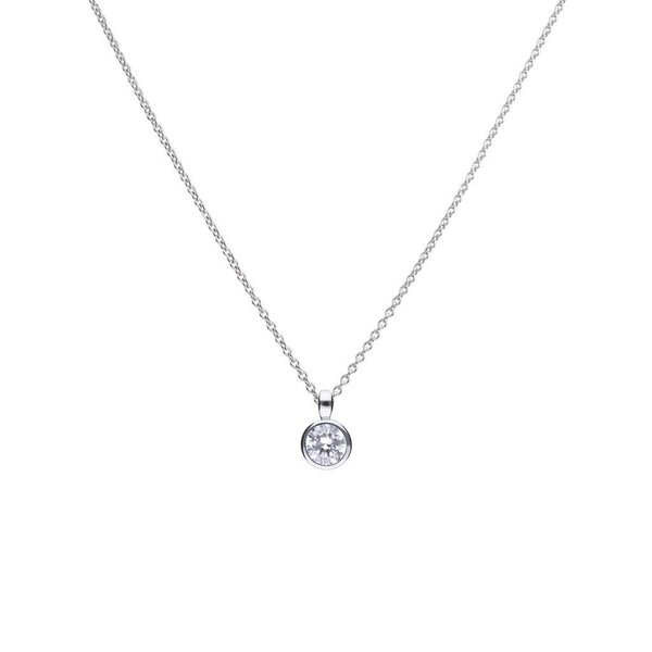 Zilveren collier diamonfire - 0.75 ct - 5.65 mm
