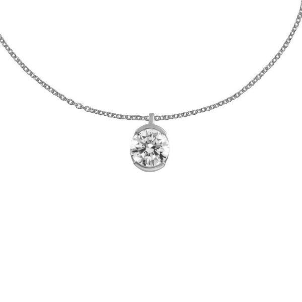 Zilveren hanger inclusief collier diamonfire