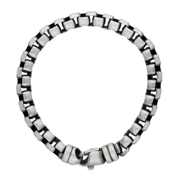 Zilveren schakelarmband gents collection