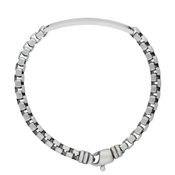 Zilveren plaatarmband - venetiaan - 5 mm - 20 cm