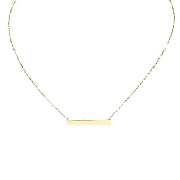 Gouden collier met hanger - balk