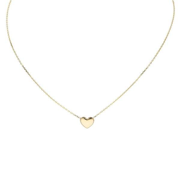 Gouden collier met hanger - hart