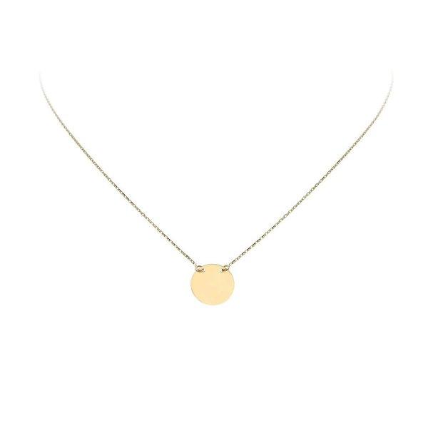 Gouden collier met hanger - rond - 40+3cm
