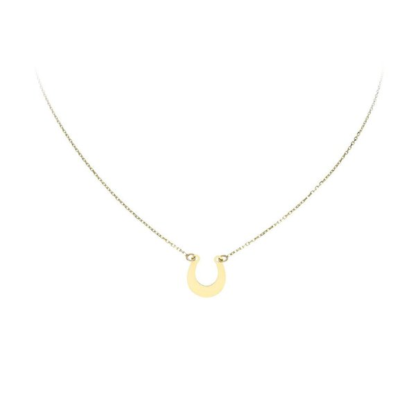 Gouden collier met hanger - hoefijzer - 40+3cm