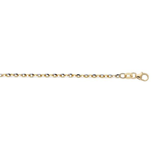 Gouden schakelarmband - 19 cm - anker - 2.9mm