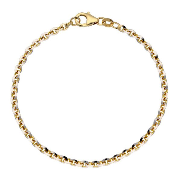 Gouden schakelarmband - 19 cm - anker - 3.1 mm