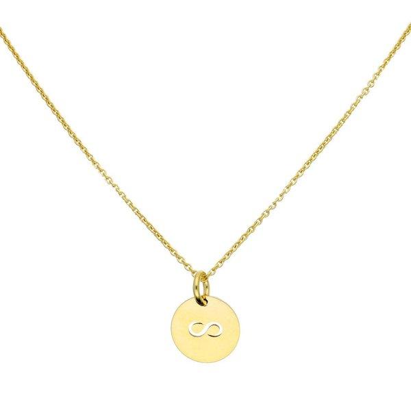 Gouden symboolcollier - 42+5 cm - infinity