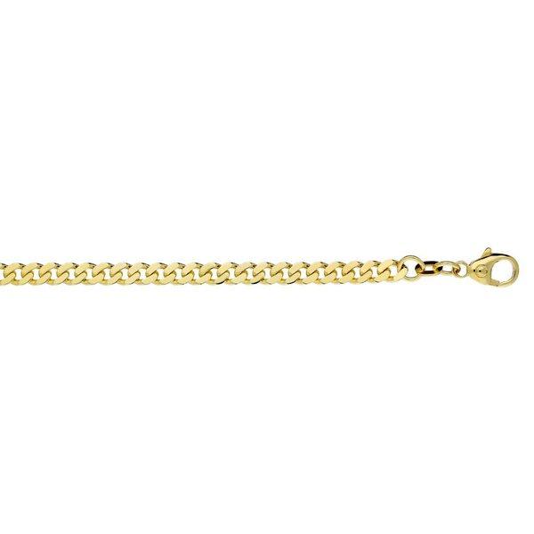 Gouden schakelarmband - 19 cm - gourmet - 4 mm