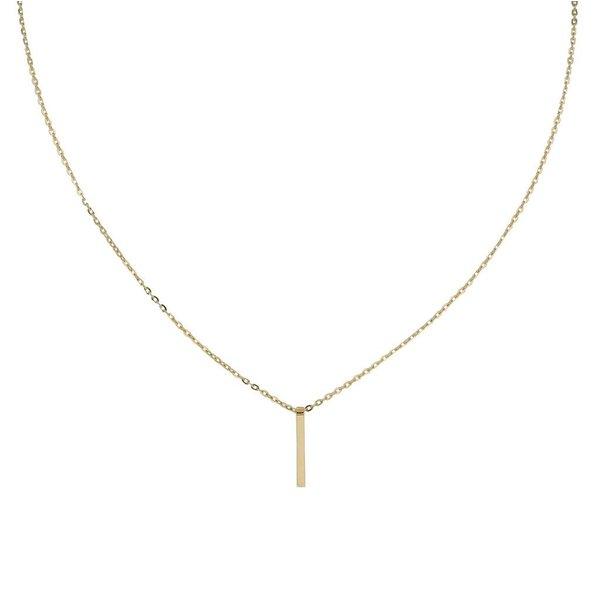 Gouden collier met hanger - staaf