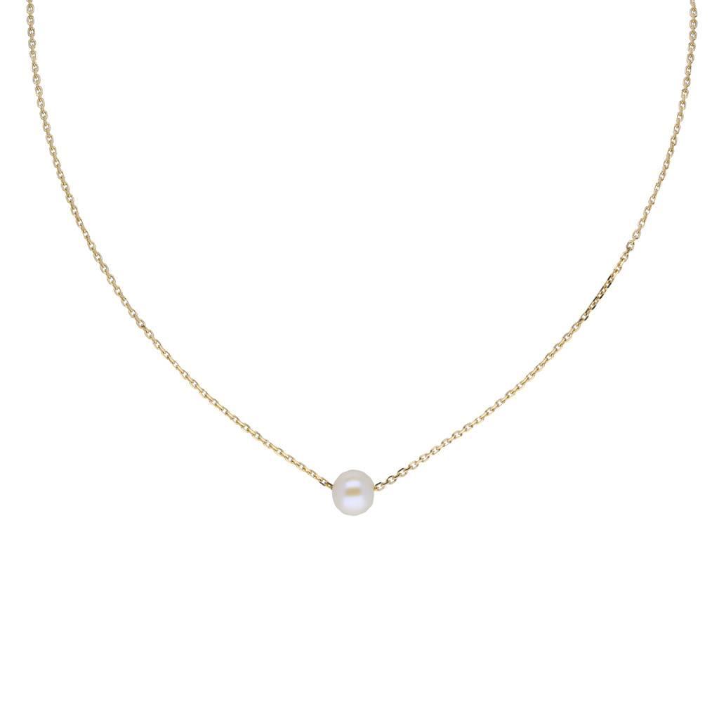 Glow Gouden collier met hanger - parel - 40+2cm