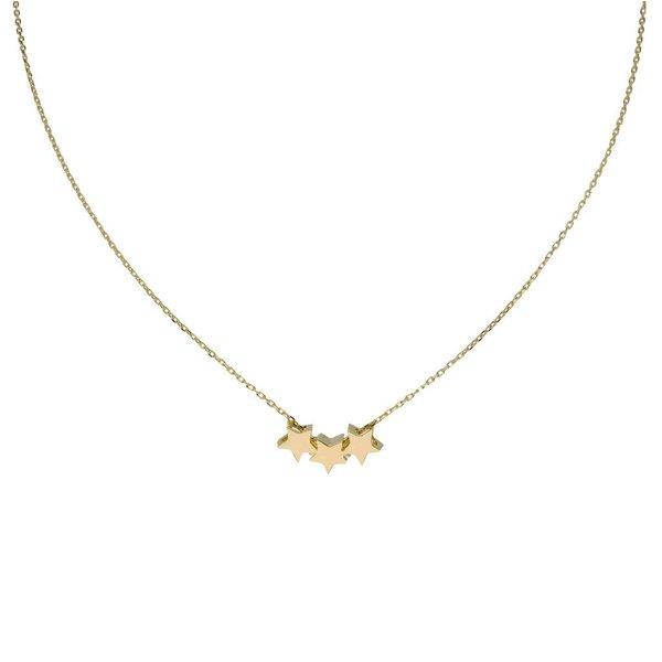 Gouden collier met hanger - 3 sterretjes