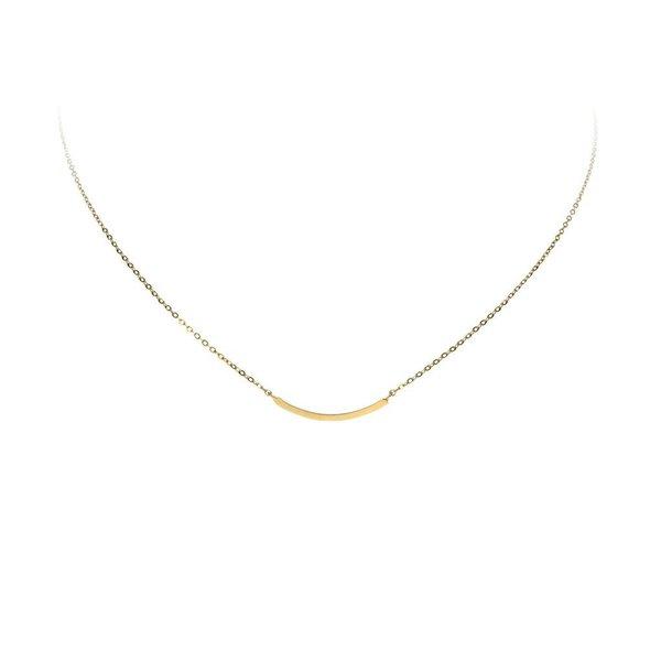 Gouden collier - balk - 43 cm