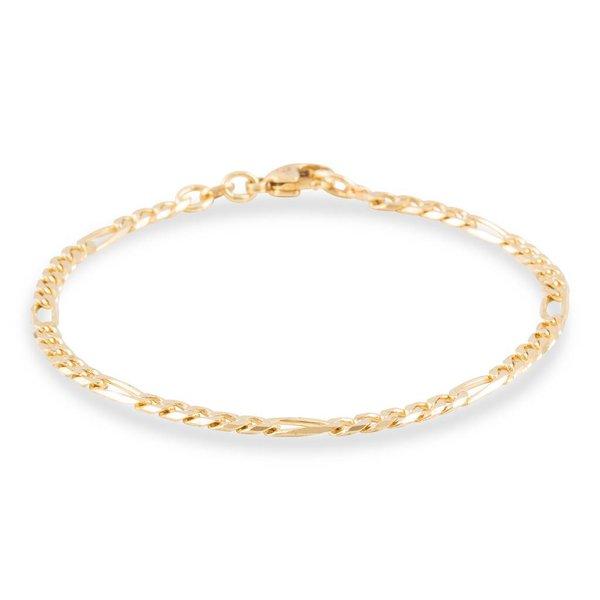 Gouden schakelarmband - 19 cm - figaro - 3.4 mm