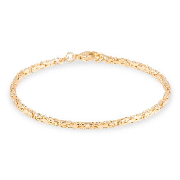 Gouden schakelarmband - 19 cm - koning - 2.3 mm
