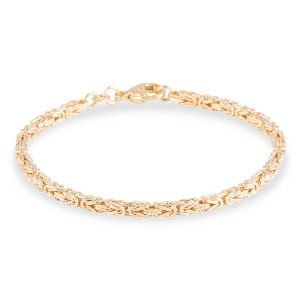 Gouden schakelarmband - 19 cm - koning - 2.9 mm